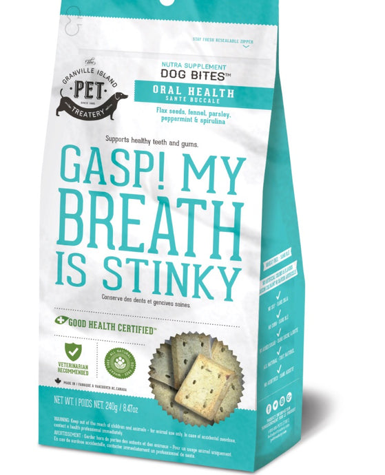 Granville Island Pet Treatery Nutra Bites Oral Health cookies 240gm