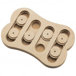 SPOT ETHICAL Seek A Treat Wooden Shuffle Bone Puzzle- 077234056547