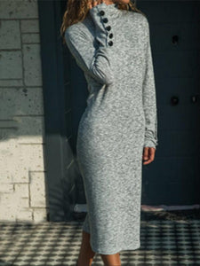 Fashion Knitted Long Sleeved Dresses