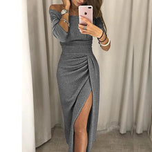 Load image into Gallery viewer, Open Neck Collar Bodycon Dress