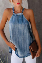 Load image into Gallery viewer, Classy Off-Shoulder Denim Halter Vest