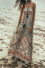 Load image into Gallery viewer, Bohemian Printed Sling Dress