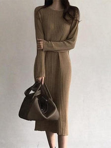 Casual loose Knitted Maxi dress