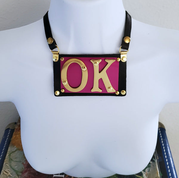 Necklace - Bespoke style #3 - BENY HART - Wearable Art - handmade Luxury Leather Fashion & Accessories