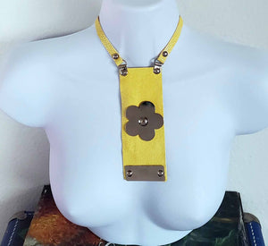 Necklace #6 - BENY HART - Wearable Art - handmade Luxury Leather Fashion & Accessories