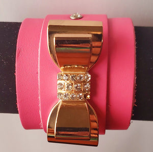 BRACELET - Bow #1 - BENY HART - Wearable Art - handmade Luxury Leather Fashion & Accessories