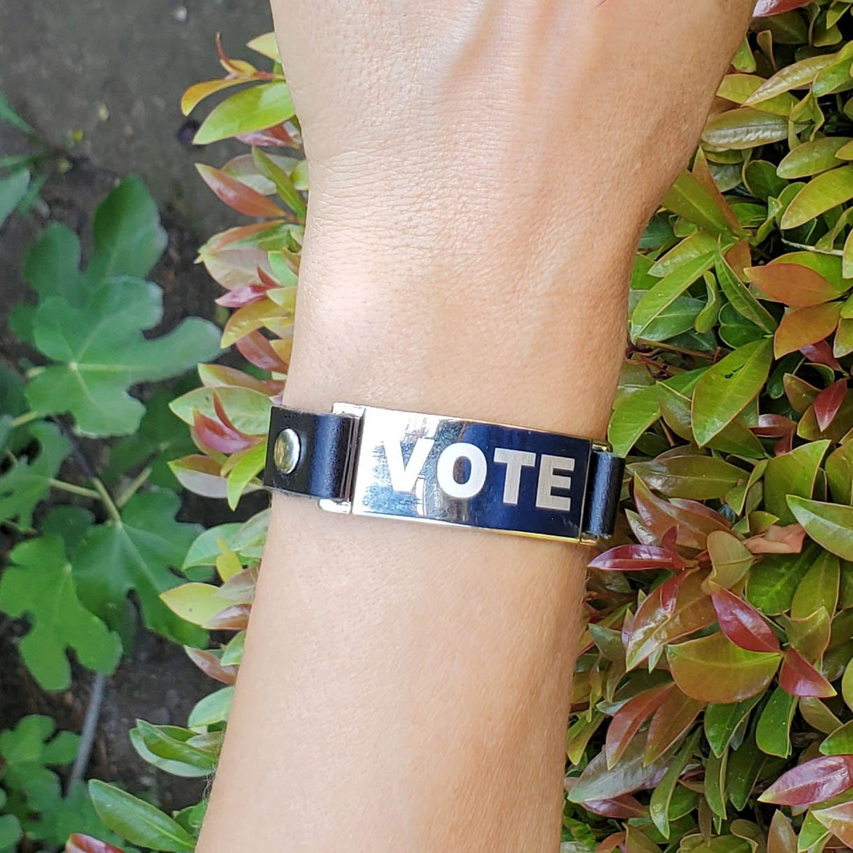 Leather Vote BRACELET - BENY HART - Wearable Art - handmade Luxury Leather Fashion & Accessories