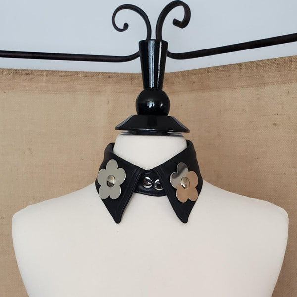COLLAR 3 - BENY HART - Wearable Art - handmade Luxury Leather Fashion & Accessories