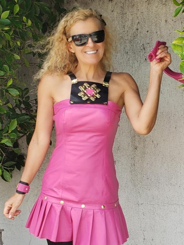 Beny Hart. Limited Edition Beny Dress in pink. The Beny Dress is a pleated dress.