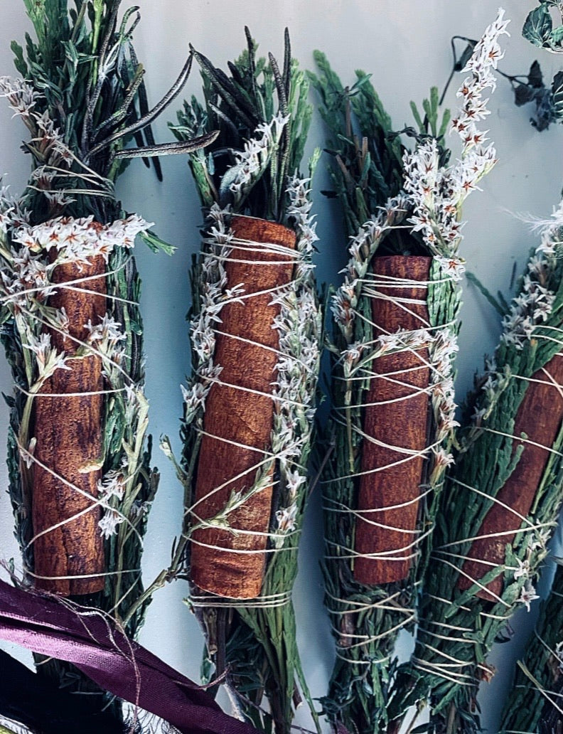 CEDAR SMUDGE STICK + Rosemary