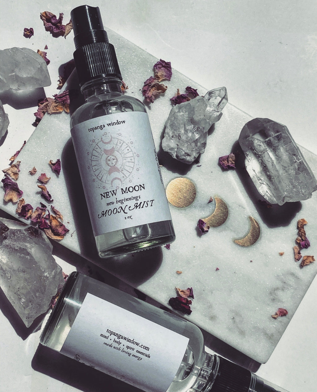 NEW MOON MIST Moon Water Moon Rituals + Infused with Healing Crystal