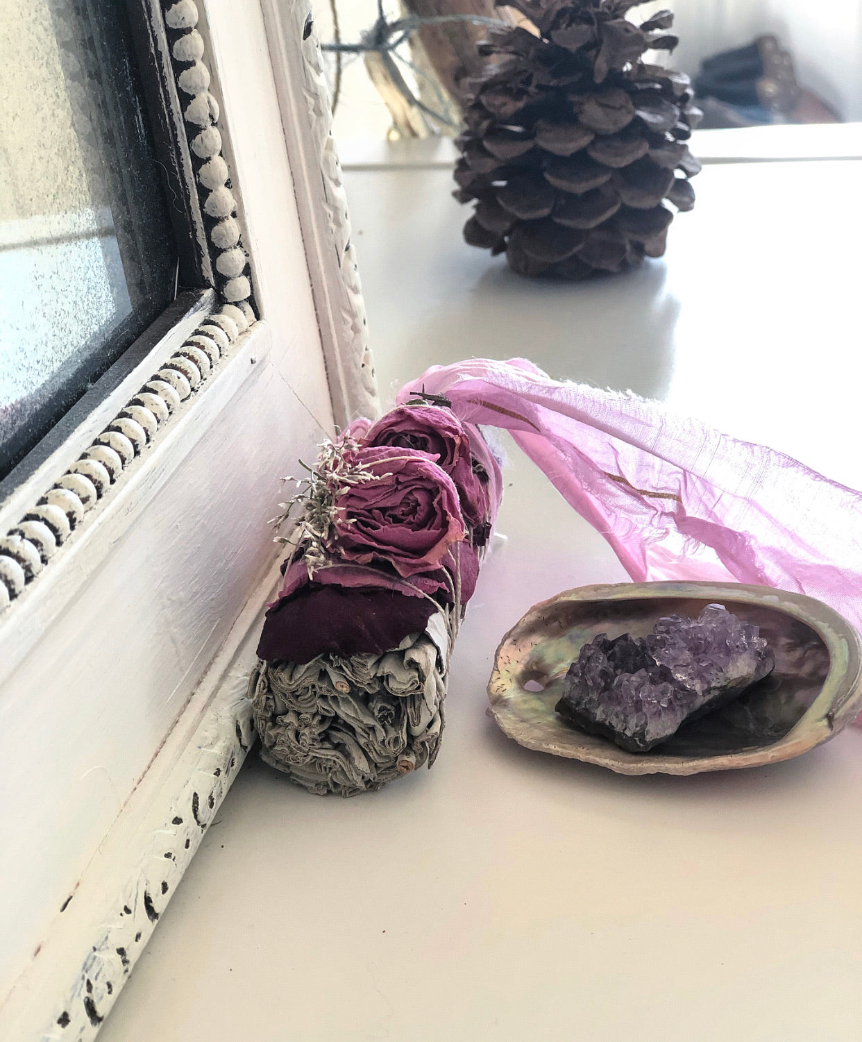 sage stick smudging for energy cleansing
