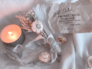 JULIET WILD HARVESTED SAGE STICK + SELENITE WAND