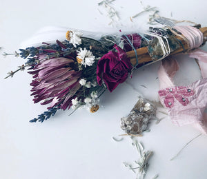 MOON STAR SMUDGE STICK + Shasta Sage+ Star Mica +Palo Santo