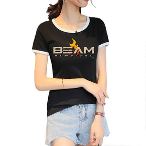 Custom Ladies' Round Collar T-shirt Cotton T-shirt
