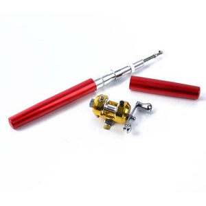 Pocket Pen Telescopic Fishing Rod & Reel