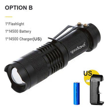Load image into Gallery viewer, Waterproof Tactical LED - Zoomable 3 Mode/Rechargeable