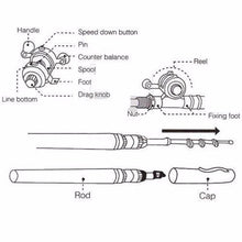 Load image into Gallery viewer, Pocket Pen Telescopic Fishing Rod & Reel