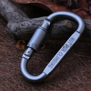 Aluminum Locking Carabiner 5pcs
