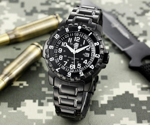 Tactical Waterproof Watch with Interchangeable Straps