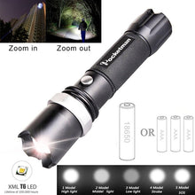 Load image into Gallery viewer, LED Rechargeable Flashlight