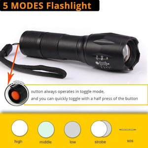 Tactical Zoomable Flashlights