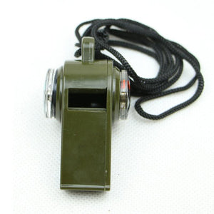 Emergency 3-in-1 Whistle Compass Thermometer