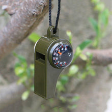 Load image into Gallery viewer, Emergency 3-in-1 Whistle Compass Thermometer