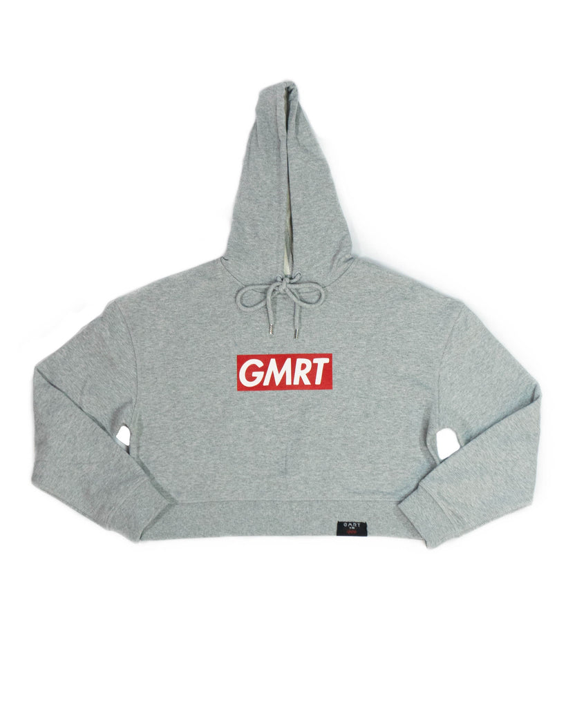 GMRT 'Preme' Gray Heavy weight Crop Hoodie
