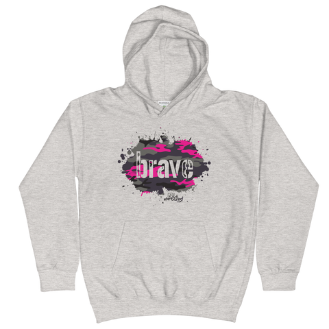Brave Camo Pink - Kids Soft Comfy Fit Hoodie