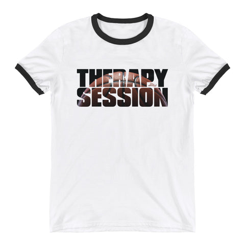 Therapy Session (Basketball) - Mens Ringer T-Shirt
