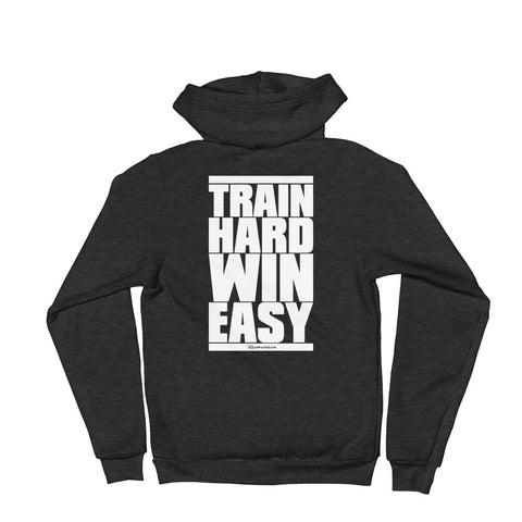 Train Hard Win Easy - Adult Zip Up Hoodie Soft Warm