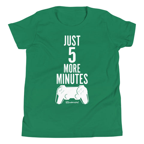 Just 5 More Minutes (Gamer) - Kids Favorite Fit T Shirt