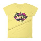 Brave Camo Pink - Womens Fashion Fit T Shirt
