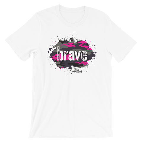 Brave Camo Pink - Adult Favorite Fit T Shirt