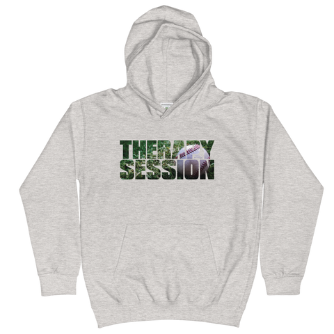 Therapy Session Baseball - Kids Soft Comfy Fit Hoodie