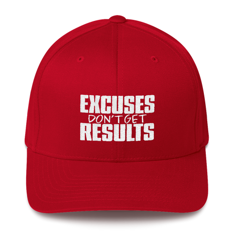 Excuses Don't Get Results - Flexfit Fitted Hat