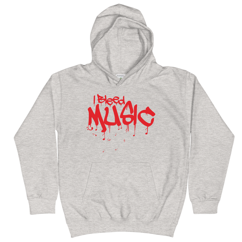 I Bleed Music - Kids Soft Comfy Fit Hoodie