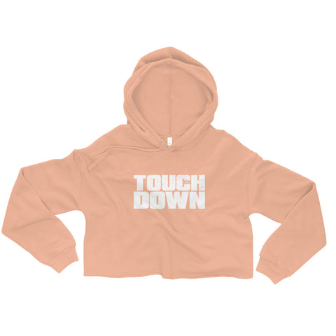 Touchdown - Womens Cropped Super Soft Hoodie