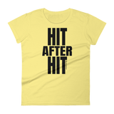 Hit After Hit (Baseball/Softball) - Womens Fashion Fit T Shirt