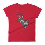 Deer Camo - Womens Fashion Fit T Shirt