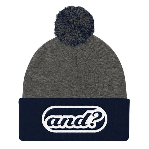 and? - Pom Pom Knit Cap