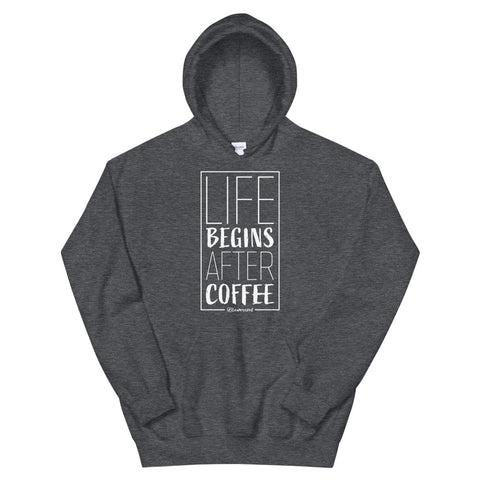 Life Begins After Coffee - Adult Soft Comfort Fit Hoodie