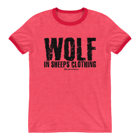 Wolf In Sheeps Clothing - Mens Ringer T-Shirt