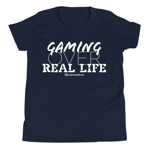 Gaming Over Real Life - Favorite Fit Kids T Shirt