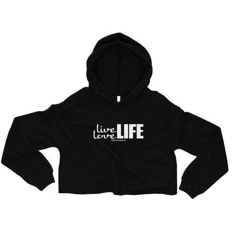 Live Love Life - Womens Cropped Super Soft Hoodie