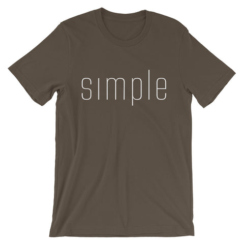 Simple - Favorite Fit Adult T Shirt