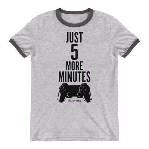 Just 5 More Minutes (Gamer) - Mens Ringer T-Shirt