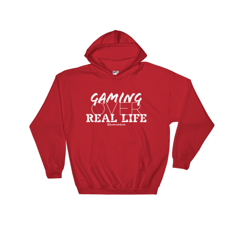 Gaming Over Real Life - Soft Comfort Fit Adult Hoodie