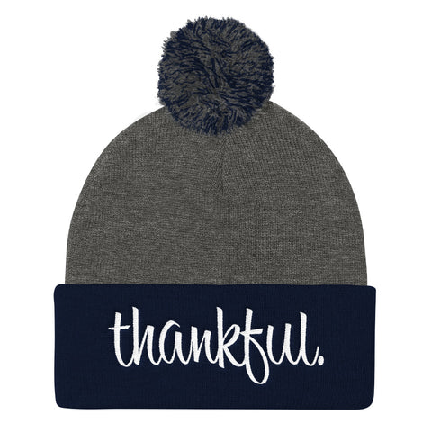 Thankful - Pom Pom Knit Cap
